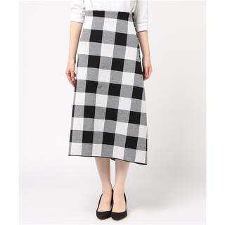 ルシェルブルー(LE CIEL BLEU)のLE CIEL BLEU チェックジャカードニットスカート(ひざ丈スカート)