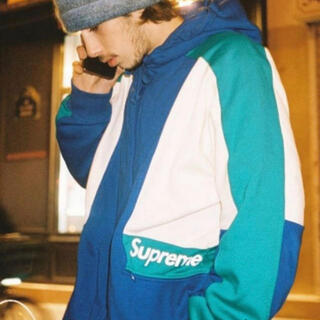 Supreme - Supreme color blocked hooded sweatshirt