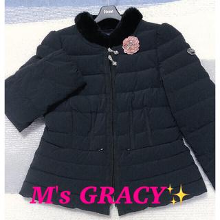 エムズグレイシー(M'S GRACY)のM'S GRACY❤️エムズグレイシー美品コート レッキス ファーダウンコート(ダウンコート)