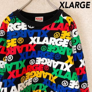 XLARGE - エクストララージ スウェット パーカー 古着 総柄 メンズ レディース M