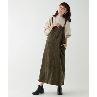 STUDIO CLIP - スタディオクリップ 太畝コーデュロイサロペスカート ジャンパースカート