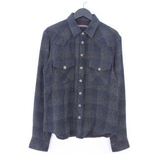 クロムハーツ(Chrome Hearts)のクロムハーツ ヨーレン ウエスタンシャツ ネルシャツ M(シャツ)