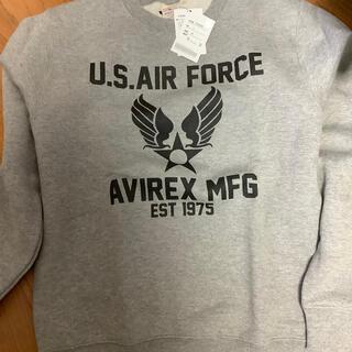 AVIREX - AVIREX◆エアフォーススウェット/スウェット/L/コットン/グレー