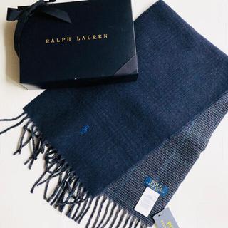 ラルフローレン(Ralph Lauren)の新作 ラルフローレン メンズ リバーシブル マフラー イタリア チェック 紺(マフラー)