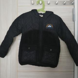 エフオーキッズ(F.O.KIDS)のエフオーキッズ   中綿ジャンパー   120   ブラック   フード付き(ジャケット/上着)