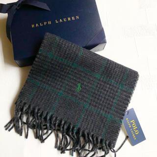 ラルフローレン(Ralph Lauren)の新作 ラルフローレン メンズ リバーシブル マフラー イタリア チェック グレー(マフラー)