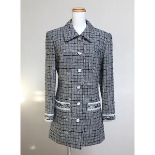 LEONARD - 美品 レオナール LEONARD 最高級シルク ウール コート ジャケット