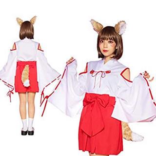巫女 狐巫女 きつね耳 コスプレ(コスプレ)