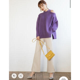 グレイル(GRL)のグレイル 裾スリットフレアパンツ S(カジュアルパンツ)