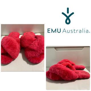 エミュー(EMU)のemu ピンクファー サンダル(サンダル)