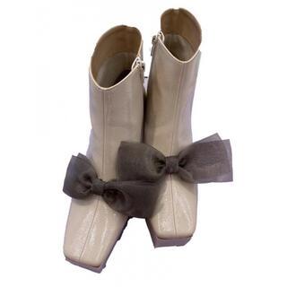 ハニーミーハニー(Honey mi Honey)のhoney mi honey ribbon patent boots(ブーツ)