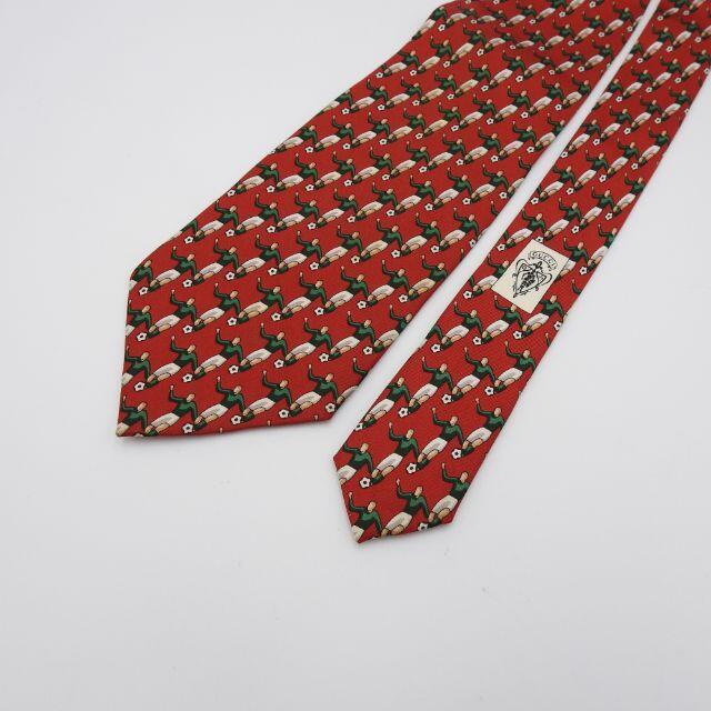 Gucci(グッチ)の【正規品】最高級シルク100% グッチ GUCCI ネクタイ レッド サッカー メンズのファッション小物(ネクタイ)の商品写真