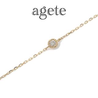 agete - agete アガット k18 ダイヤ ブレスレット