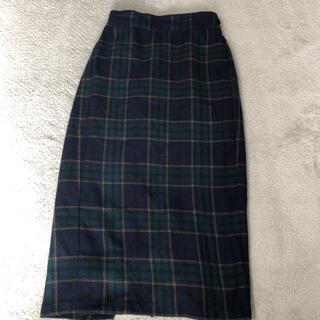 GU - GU チェック 冬用ロングスカート Sサイズ