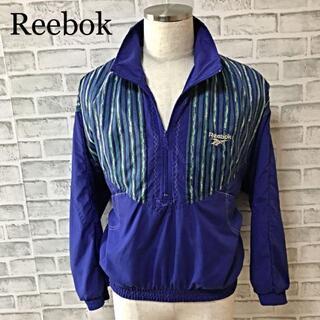 リーボック(Reebok)の激レア! リーボック 90s ハーフジップ ナイロンジャケット ロゴ刺繍(ナイロンジャケット)