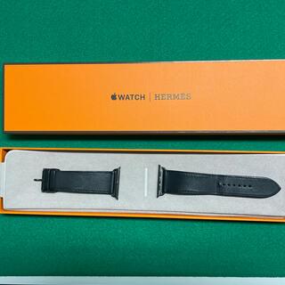 Hermes - Apple Watch 44mm用 ベルト HERMES オールブラック(黒)