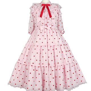 Angelic Pretty - petit Heart ワンピース カチューシャ ピンク