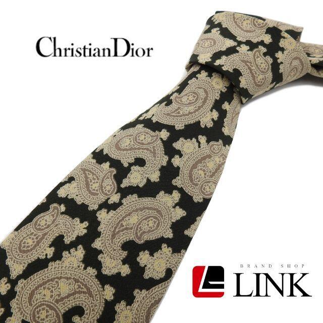 Christian Dior(クリスチャンディオール)の【正規品】最高級シルク100% クリスチャンディオール DIOR ペイズリー柄 メンズのファッション小物(ネクタイ)の商品写真