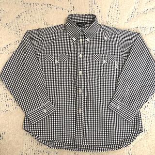 コムサイズム(COMME CA ISM)のコムサイズム⭐︎こども服120サイズ 長袖シャツ ブラック チェック(ブラウス)