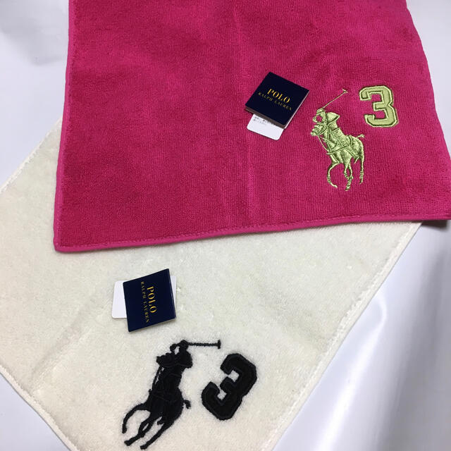 POLO RALPH LAUREN(ポロラルフローレン)の新品 タオルハンカチ ラルフローレン   2点 レディースのファッション小物(ハンカチ)の商品写真