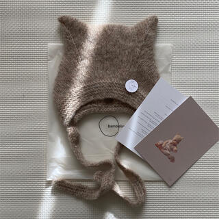 Caramel baby&child  - bambolina Kitty bonnet  ベージュ 12-18M