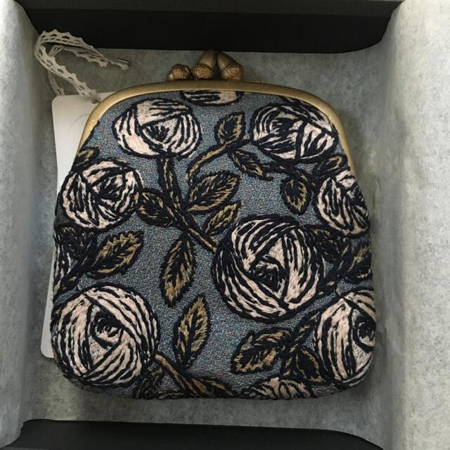 mina perhonen(ミナペルホネン)の新品 mina perhonen rosy カドルパース ブルー レディースのファッション小物(ポーチ)の商品写真