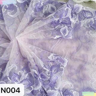 刺繍レース生地 N004