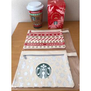 Starbucks Coffee - スタバ ポーチ クリスマス 2こ