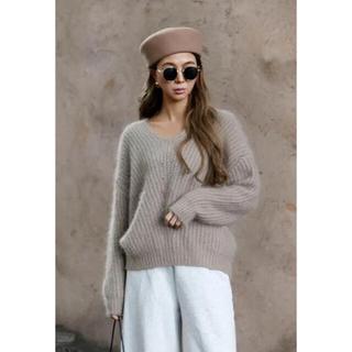 ルームサンマルロクコンテンポラリー(room306 CONTEMPORARY)のroom306  Angola V-neck knit(ニット/セーター)