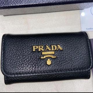 PRADA - 新品 プラダ PRADA キーケース 黒 革 レザー 鍵