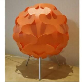 イケア(IKEA)のIKEAのフロアランプ(未使用)オレンジ色(フロアスタンド)