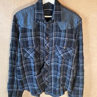 クロムハーツ(Chrome Hearts)の【新品未使用】クロムハーツ  ネックシャツ ネルシャツ レザー(シャツ)