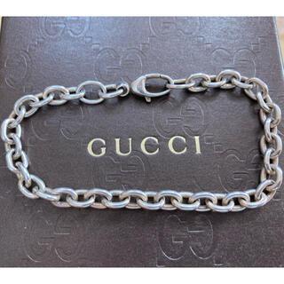 Gucci - GUCCI 刻印入り チェーン ブレスレット