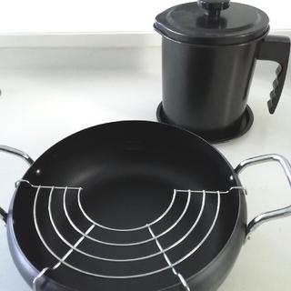 天ぷら鍋 オイルポット 調理セット 料理 新品未使用 天ぷら