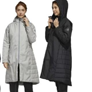 adidas - 新品 アディダス 中綿コート ロングコート ベンチコート ブラック M