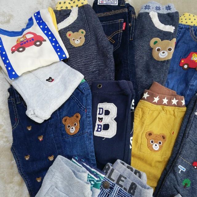 mikihouse(ミキハウス)のミキハウス セット ズボン シャツ 90 キッズ/ベビー/マタニティのキッズ服男の子用(90cm~)(パンツ/スパッツ)の商品写真
