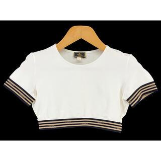 フェンディ(FENDI)のFENDI☆ヴィンテージ トップス クロップド  Tシャツ ロゴ 短丈(Tシャツ(半袖/袖なし))