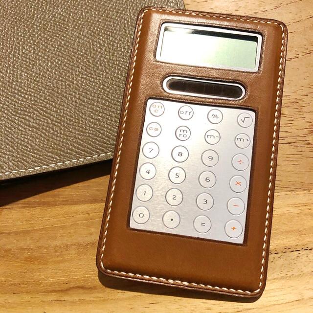 Hermes(エルメス)の極美品 エルメス 電卓 HERMES ゴールド ブラウン 手帳 アジェンダ メンズのファッション小物(手帳)の商品写真