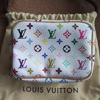 LOUIS VUITTON - 美品*LOUIS VUITTON  マルチカラー ポーチ *トゥルース ワピティ