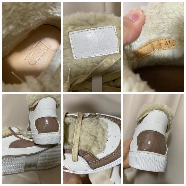 Maison Martin Margiela(マルタンマルジェラ)のMartin Margiela モコモコ ボア レザースニーカー 41 26.0 メンズの靴/シューズ(スニーカー)の商品写真