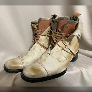 アルフレッドバニスター(alfredoBANNISTER)のalfredoBANNISTER 名作 レイヤードレザーブーツ 41 25.5(ブーツ)