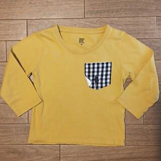 Design Tshirts Store graniph - グラニフ 山吹色 ロンT size90
