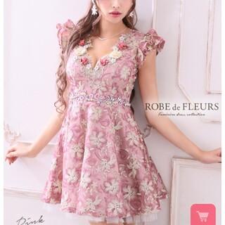 ROBE - ROBE de FLEURS♡完売3Dフラワーフレアドレス♡