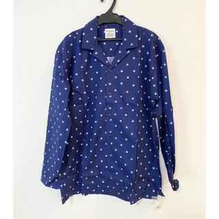 ジェラートピケ(gelato pique)のスター柄布帛パジャマシャツ ルームウェア GELATO PIQUE Mサイズ(シャツ)