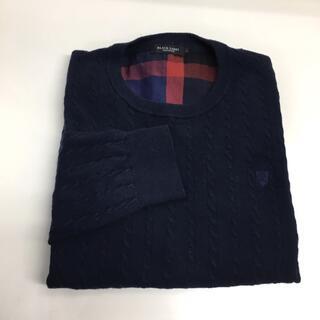 バーバリーブラックレーベル(BURBERRY BLACK LABEL)のBLACKLABEL ブラックレーベル メンズ セーター L ネイビー(ニット/セーター)