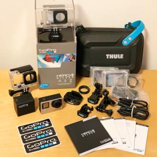 ゴープロ(GoPro)の【送料込・極美品】GoPro Hero4 Silver × 3軸ジンバルセット(コンパクトデジタルカメラ)