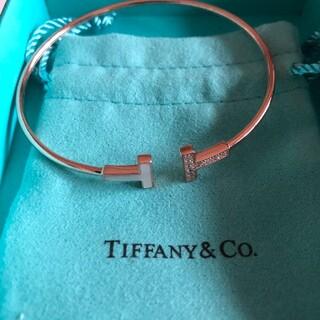 Tiffany & Co. - Tiffany ティファニー Tワイヤーブレス PG ダイヤ ブレスレット