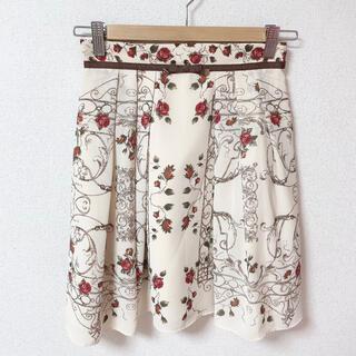 レッセパッセ(LAISSE PASSE)のLAISSE PASSE♡アンティークローズスカーフスカート(ミニスカート)