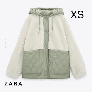 ZARA - ZARA ザラ キルティング生地ボアジャケット XS