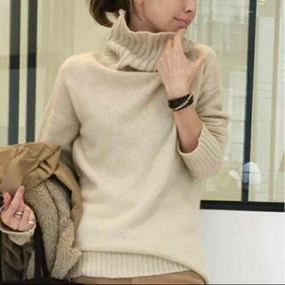 L'Appartement DEUXIEME CLASSE -    L'Appartement T/N Basic Knit  ベージュ